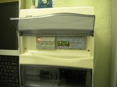 The same installation with switchboard cover